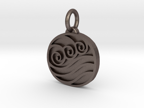 Avatar The Last Airbender Water Tribe Pendant in Polished Bronzed Silver Steel