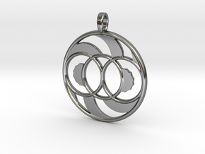 LIFE SPIRAL ONE in Fine Detail Polished Silver