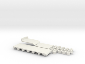 1:160/N-Scale 2+6 Axle Semitrailer in White Natural Versatile Plastic