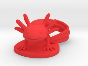 Axolotl in Red Processed Versatile Plastic