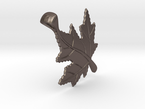 Canadian Maple Leaf in Polished Bronzed Silver Steel