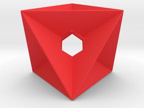 Geo0002 in Red Processed Versatile Plastic