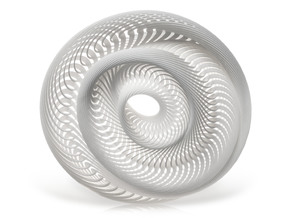 Mobius Maximus in White Natural Versatile Plastic
