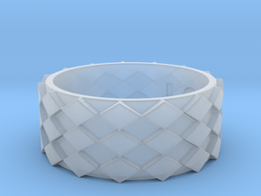 Futuristic Diamond Ring Size 12 in Smooth Fine Detail Plastic