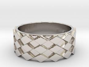 Futuristic Diamond Ring Size 13 in Platinum