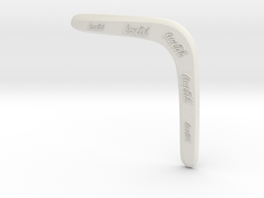 Boomerang Cocacola in White Natural Versatile Plastic