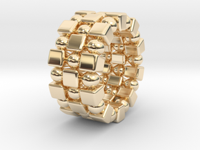 Claudette T. - Ring in 14k Gold Plated Brass: 9 / 59