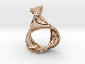 Figure 8 Knot Earring, larger in 14k Rose Gold Plated Brass