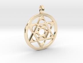 METATRON STAR SIX in 14k Gold Plated Brass