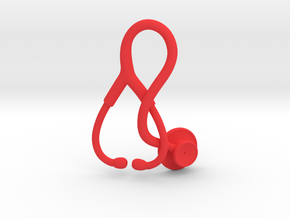 Stethoscope Pendant in Red Processed Versatile Plastic