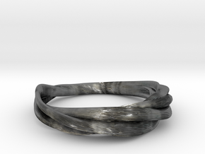 Crease Bracelet  in Polished Silver