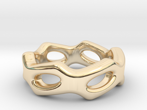 Fantasy Ring 18 - Italian Size 18 in 14k Gold Plated Brass