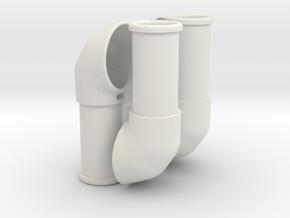 Improved air scoop, set of 4 in White Natural Versatile Plastic