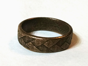 Flat Braid Ring size 12 in Polished Bronze Steel