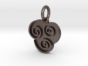 Avatar Air Pendant in Polished Bronzed Silver Steel