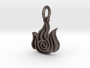Avatar Fire Pendant in Polished Bronzed Silver Steel