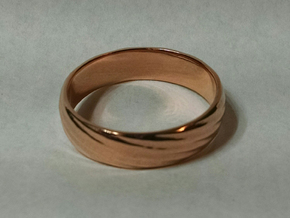 Spiral Ring size 12 in 14k Rose Gold Plated