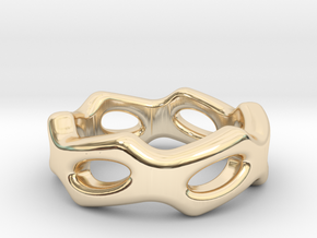 Fantasy Ring 22 - Italian Size 22 in 14k Gold Plated Brass