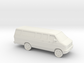 1/64 2002 Dodge Van Extendet in White Natural Versatile Plastic
