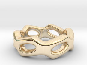 Fantasy Ring 26 - Italian Size 26 in 14k Gold Plated Brass