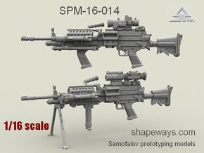 1/16 SPM-16-014 m249 MK48mod0 Variant V in Frosted Extreme Detail