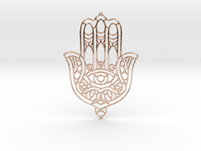 Khamsa (The Hand) in 14k Rose Gold Plated Brass