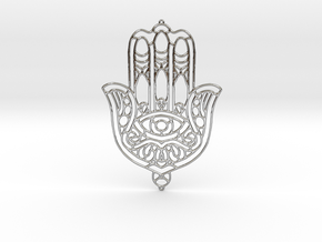 Khamsa (The Hand) in Fine Detail Polished Silver