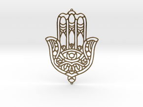 Khamsa (The Hand) in Natural Bronze
