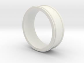 Customizable Ring_01 in White Natural Versatile Plastic