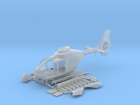 Helicopter Eurocopter EC135. HO Scale HO (1:87) in Smooth Fine Detail Plastic