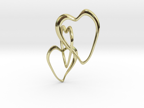 Trinity Hearts  in 18k Gold Plated Brass