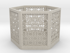 Islamic Pattern Candle Holder 2 in Natural Sandstone