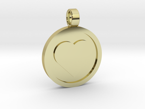 """Personalized Heart Pendant - Say """"I Love You""""  in 18k Gold Plated Brass"""