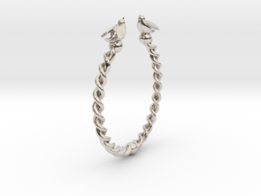 Peace Bangle in Rhodium Plated Brass
