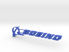 Boeing Everett Sign 04 in Blue Processed Versatile Plastic