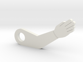 Party Zone Dummy Arm in White Natural Versatile Plastic
