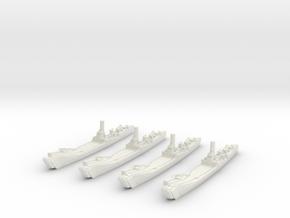 1/2400 IJN No.101 Landing Ship (X4) in White Natural Versatile Plastic