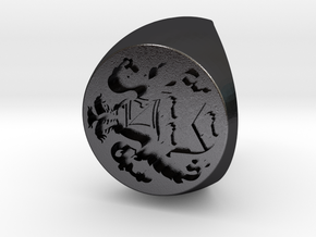 Custom Signet Ring 8 in Polished and Bronzed Black Steel