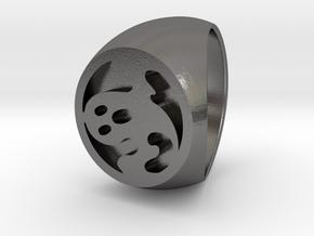 Custom Signet Ring 9 in Polished Nickel Steel