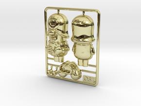 SmileCappy Plastic Model 50mm in 18k Gold
