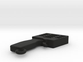 LLAVERO MANDO SLOT, PERSONALIZABLE in Black Natural Versatile Plastic
