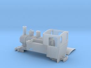 Feldbahn Dampflok Henschel C-Kuppler Spur 0e/f in Smooth Fine Detail Plastic