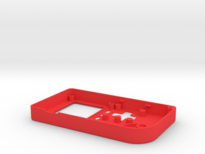 Pocket PiGRRL Case Front in Red Processed Versatile Plastic