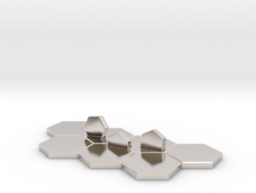 Hex-tile Card holder in Rhodium Plated Brass