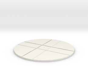 T-32-wagon-turntable-168d-100-1a in White Natural Versatile Plastic