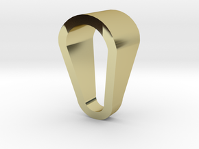 Lotus Chain Ring in 18k Gold Plated Brass