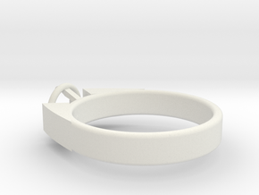 Design Ring For Diamond Ø17.83 Mm  Model Alessa  in White Natural Versatile Plastic