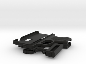iPhone 6 Gun Case in Black Natural Versatile Plastic