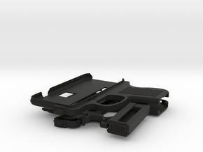 iPhone 6 Gun Case in Black Natural Versatile Plastic