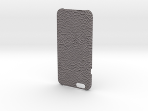 Iphone6 Cover Open Style (Leather Grey) in Full Color Sandstone